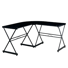 Black Glass L Shaped Desk Techni Mobili Black Glass L Shaped Computer Desk Rta 3805l Bk