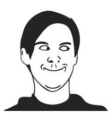 Memes Face - facepalm troll guy meme face for any design vector image