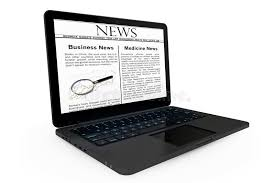 Conceptmodern Online News Concept Modern Laptop With News On The Screen Royalty