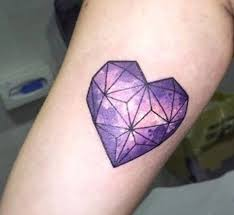 heart tattoos purple tattoo geometric heart tattoo galaxy tattoos