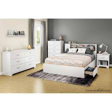 South Shore White Bookcase by South Shore Fusion 54 60 U0027 U0027 Full Queen Bookcase Headboard Multiple