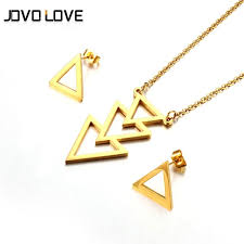 gold necklace designs simple images Jovo unique triangle shape gold jewelry set for female triple jpg