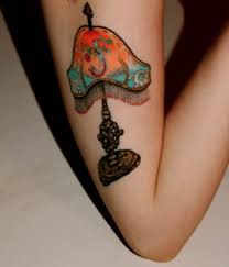tiffany lamp tattoo on right bicep