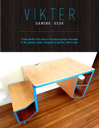Kickstarter Gaming Desk The Vikter Gaming Desk A Solution That Caters To The Needs Of A