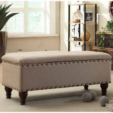 Foot Of Bed Bench With Storage Bedroom Storage Bench Ebay