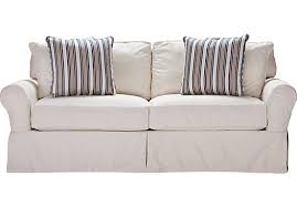 slipcovers for pull out sofa cindy crawford home beachside white denim sofa washed white denim
