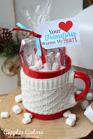 christmas gift ideas for friendship warms my heart gift and tag