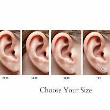 what size diamond earrings should i buy 14k gold blue diamond earrings blue diamond stud
