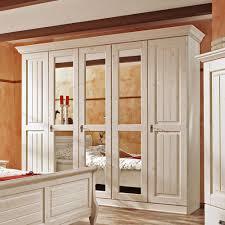 Schlafzimmerschrank Romantisch Kleiderschrank Kiefer Massiv Landhausstil Weiß Antik Oslo Schrank