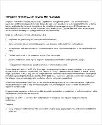 sample evaluations employee performance evaluation template