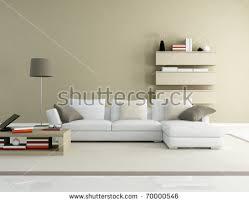 brown beige modern living room rendering stock illustration