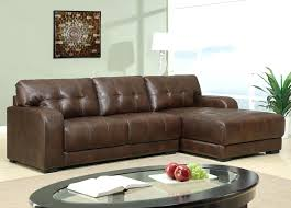 Leather Sectional Sleeper Sofas Brown Leather Sleeper Sofa Adrop Me