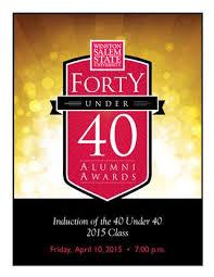 wssu 40 under 40 2015 honorees by sigrid hall pittsley issuu