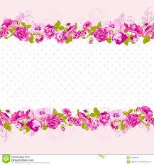 Invitation Card Border Seamless Border Of Blossom Roses Stock Vector Image 41586446