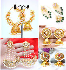 punjabi jhumka earrings indian jhumka earrings ebay
