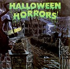 halloween wall cover old halloween records blood curdling blog of monster masks