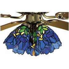Stained Glass Ceiling Fan Light Shades Ceiling Fan Fitter Shades You Ll Wayfair