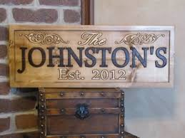 wedding gift name sign personalized family name signs carved custom wooden sign last name