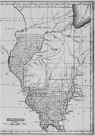 Illinois State Map 1822 Illinois State Map Williamson County Illinois Historical