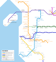 Subway Map by Urbanrail Net U003e Asia U003e Korea U003e Incheon Subway