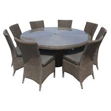 mimosa 9 piece desert sands aluminium and resin wicker setting
