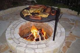 Firepit Grate Pit Cooking Grates Gardening Backyards Porches