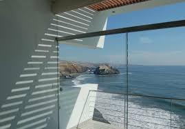 modern glass wall design idea from lefevre house interior