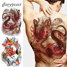 chest tattoo dragon aliexpress com buy 1 sheet big large full back chest tattoo