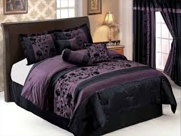 Black And Purple Comforter Sets Queen Black And Purple Bedding Pc Purple Black Comforter Set Micro Suede
