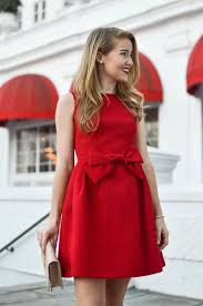 red bow christmas dress  Womens Outfit  Pinterest  Red christmas