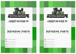 Free Birthday Invitation Cards To Print Minecraft Birthday Invitations Dhavalthakur Com