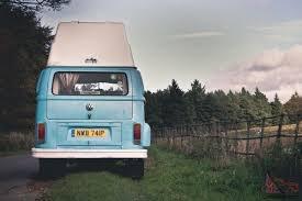 volkswagen van hippie blue surf blue 1976 volkswagen hippie camper van just 5000 miles