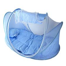 portable travel baby crib with mosquito net padded mattress n