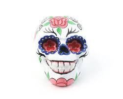 white sugar skull decor hand painted skull mexican sugar skull