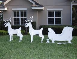 Wooden Reindeer Yard Decorations 2 The Minimalist NYC