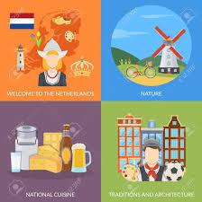 niederl ndische k che bunte niederlande 2x2 flache ikonen festgelegt darstellung