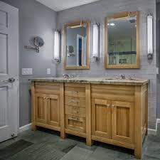 Vanity With Granite Countertop Double Vanity With Granite Counter And Glass Tile Griffin Custom