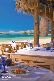 beachside dining at sandals negril jamaica beach hotels