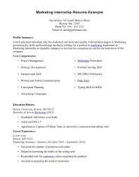 resume exles college students internships marketing internship resume objective exles sle with no