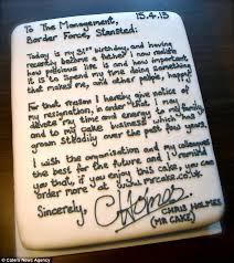 mr cake resignation chris holmes quits job at stansted airport