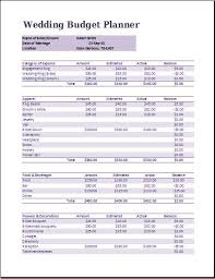 wedding budget ms excel wedding budget planner template formal word templates