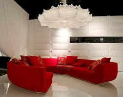 red sofas in the living room of marcel wanders interior design