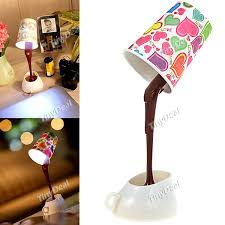 Diy Led Desk Lamp Diy Led Desk L Wooden Bottle Desk L With White Led 55 00 Via