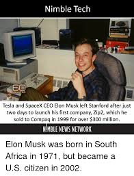 Stanford Meme - nimble tech minutes tesla and spacex ceo elon musk left stanford