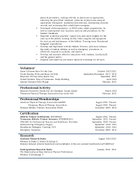 physical therapist resume pt resume