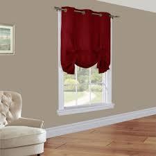 Tie Top Curtain Panels Weathermate Solid Grommet Top Tie Up Curtain Panel