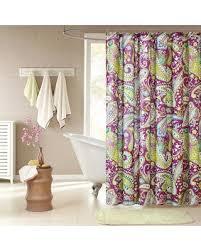 Paisley Shower Curtains Slash Prices On Intelligent Design Kayla Purple Paisley Shower