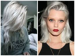 Grey Hair With Dark Highlights Dark Blonde Hair Color For Gray Hair Color