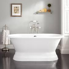 henley cast iron double ended pedestal tub bathroom henley cast iron double ended pedestal tub rolled rim