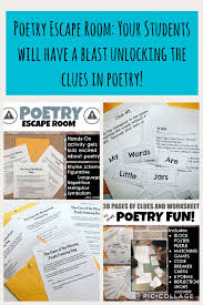 the only problem with the poetry escape room is that your students